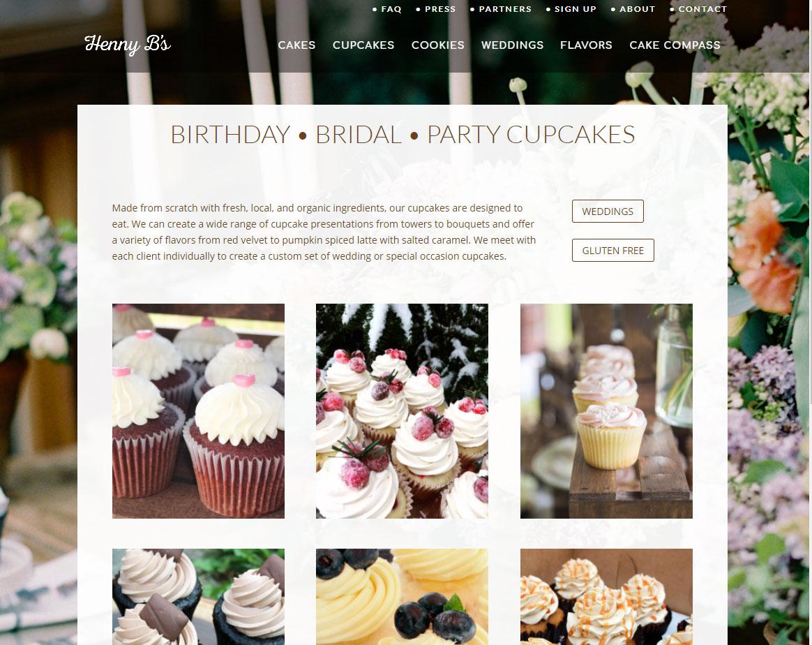 Henny B Cakes & Cupcakes - Website Design - LARCOM STUDIOS